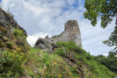 Ruinen von Primda-Schloss Stockfotografie