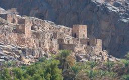 Ruinen von Riwaygh wie-Safil nahe Jebel Shams, Oman Stockfotos