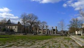 Ruinen von Saepinum (Altilia), Molise, Italien Lizenzfreie Stockbilder