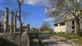 Ruinen von Saepinum (Altilia), Molise, Italien Stockbilder