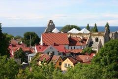 Ruinen von Sankt- Nikolauskirche Lizenzfreie Stockfotos