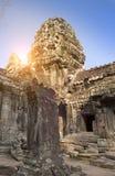 Ruinen von Tempel Ta Prohm in Angkor Wat Siem Reap, Kambodscha, 12. Jahrhundert Lizenzfreies Stockfoto