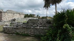 Ruinen von Tulum stockbilder