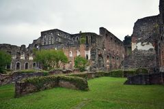 Ruinen von Villers-Abtei, Villers-La-Ville, Wallonien, Belgien stockfotografie