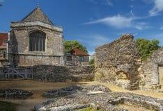 Ruinen von Wolvesey-Schloss, Winchester, England Stockfotografie