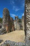 Ruinen von Wolvesey-Schloss, Winchester, England Lizenzfreies Stockfoto