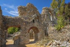 Ruinen von Wolvesey-Schloss, Winchester, England Stockfoto