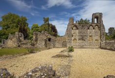 Ruinen von Wolvesey-Schloss, Winchester, England Stockbild