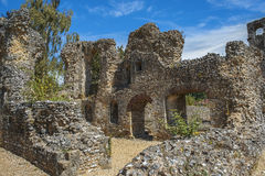 Ruinen von Wolvesey-Schloss, Winchester, England Stockfotos