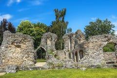 Ruinen von Wolvesey-Schloss, Winchester, England Lizenzfreie Stockfotos