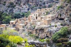 Ruinen Wadi Bani Habib Stockbild