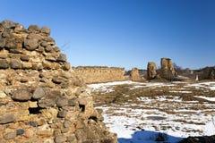 Ruinen, Weißrussland im Winter Lizenzfreies Stockfoto