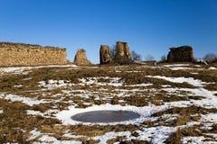 Ruinen, Weißrussland Winter Stockfotos