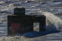 Ruinen WW II Lizenzfreies Stockfoto