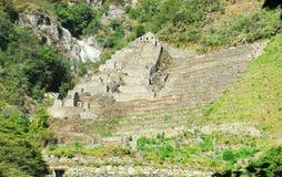 Ruinen zwischen Cusco und Machu Picchu, Peru Lizenzfreies Stockfoto