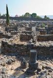 Ruines在Capernaum 库存照片