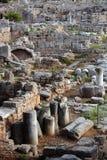 Ruines à Corinthe, Grèce - fond d'archéologie photo stock
