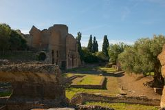 Ruines à la villa de Hadrians photo stock