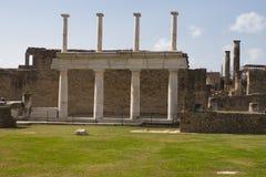 Ruines à Pompeii, Italie Image libre de droits