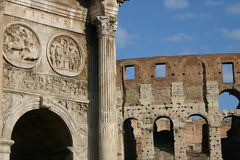 Ruines à Rome Photos stock