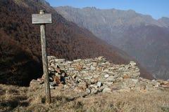 Ruines alpines Photo libre de droits