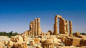 Ruines of Amun temple in Soleb Sudan. Ruines of Amun temple in Soleb, Sudan Stock Photography