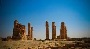 Ruines of Amun temple in Soleb, Sudan. Ruines of Amun temple in Soleb at Sudan Stock Photo