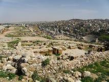 Ruines antiques à Amman Images libres de droits