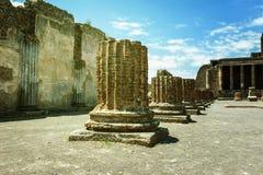 Ruines antiques à Pompeii image libre de droits