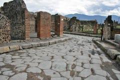 Ruines antiques à Pompeii Images libres de droits