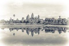 Ruines antiques d'Angkor Vat, Cambodge, Asie Images libres de droits