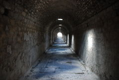 Ruines antiques d'hôpital d'asile mental image stock