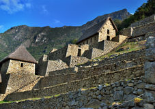 Ruines antiques d'Inca de Machupicchu Images stock