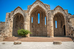 Ruines antiques dans la vieille ville de Rhodes Photos libres de droits