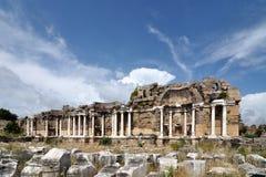 Ruines antiques dans le côté Image stock