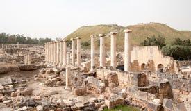 Ruines antiques dans le voyage de l'Israël Photographie stock libre de droits