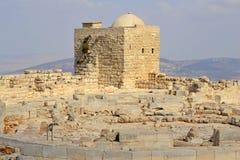 Ruines antiques de bâti Gerizim Images stock