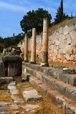 Ruines antiques de chrétien à Delphes photo stock