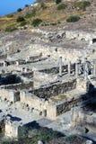 Ruines antiques de Kamiros - Rhodes Photos stock
