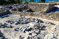 Ruines antiques de Kamiros - Rhodes Photo stock