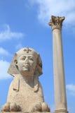 Ruines antiques de l'Alexandrie de l'Egypte Image libre de droits