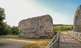 Ruines antiques de Norman Castle dans Kent Photos libres de droits