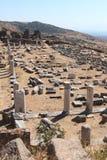 Ruines antiques de Pergamon Image libre de droits