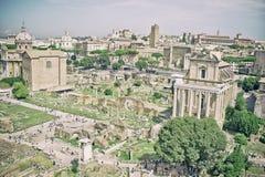 Ruines antiques de Rome - forum impérial - l'Italie photographie stock libre de droits