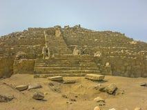 Ruines antiques de Supe de civilisation de ville de Caral Photos libres de droits