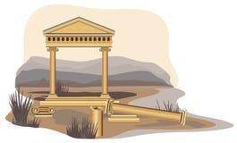 Ruines antiques de temple Images libres de droits