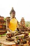 Ruines antiques de temple bouddhiste dans Ayuttaya, Thailan Image libre de droits