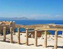 Ruines antiques de temple dans Rhodos Image libre de droits