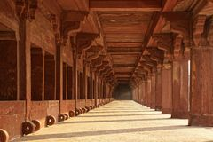 Ruines antiques de temple. Fatehpur Sikri, Inde Photographie stock