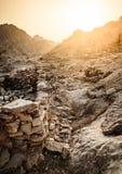 Ruines antiques de village Image libre de droits